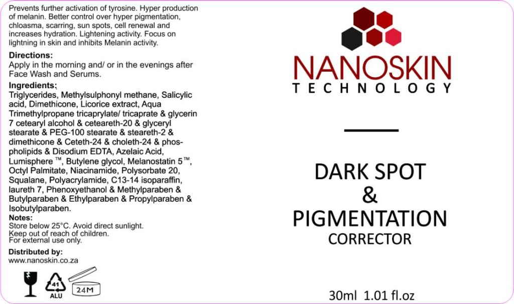 Dark spot and pigmentation corrector for smooth glowing skin
