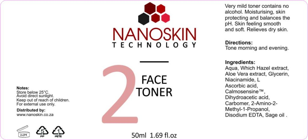 Nanoskin Face Toner PH correcting and face prep for advanced skin care