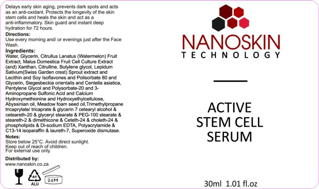 active stemcell serum. Skin actives drastically renews skin and helps with ani-aging