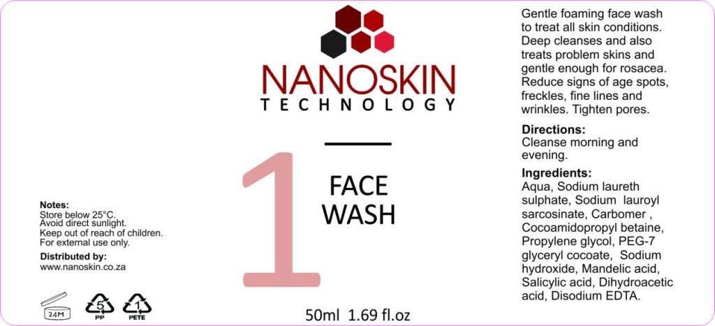 Nanoskin Face Wash - Gentle deep cleaning face wash